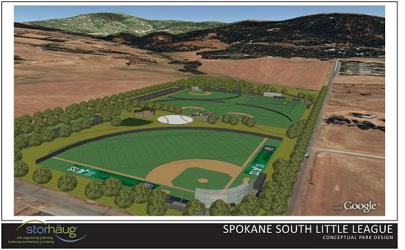 Spokane South Little League Complex Rendering