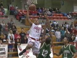 EWU's Andy Genao goes for a layup in a recent game at Reese Court (Photo: KHQ)