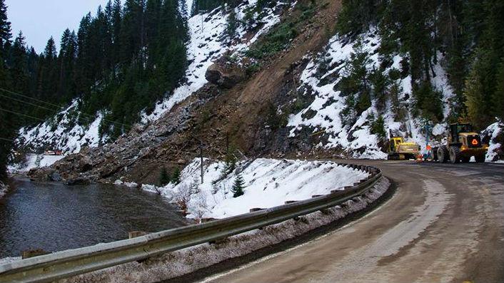 Elk City landslide.  Photo: Margaret Robinson
