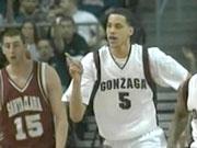 Gonzaga's Austin Daye scored a career-high 28 points against Santa Clara (Photo: KHQ)