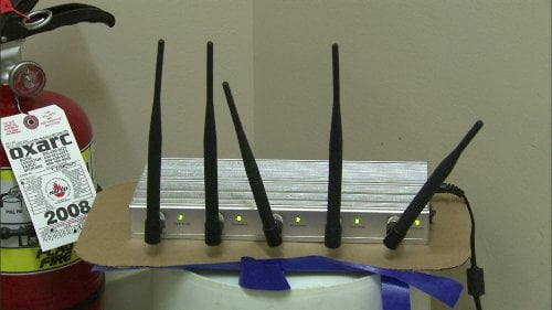 Cell phone jammer designed to block students from calling and texting