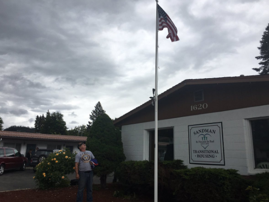 If you know who took the original flags, give that information to the Coeur d'Alene Police Department.