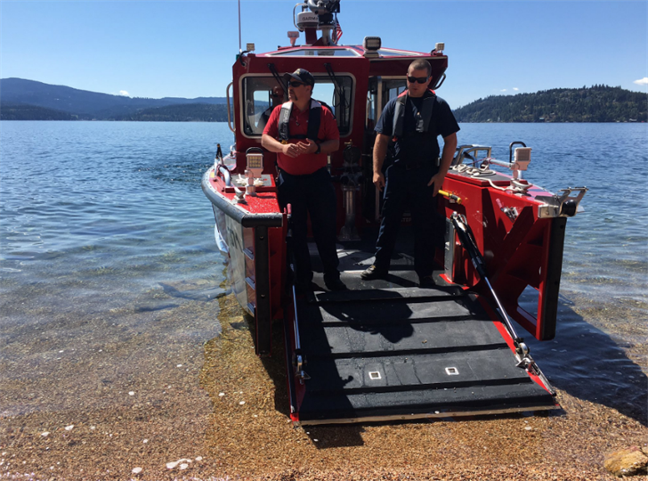 The Coeur d'Alene Fire Department debuted the new boat during Ironman and have already used it for five rescues since then.
