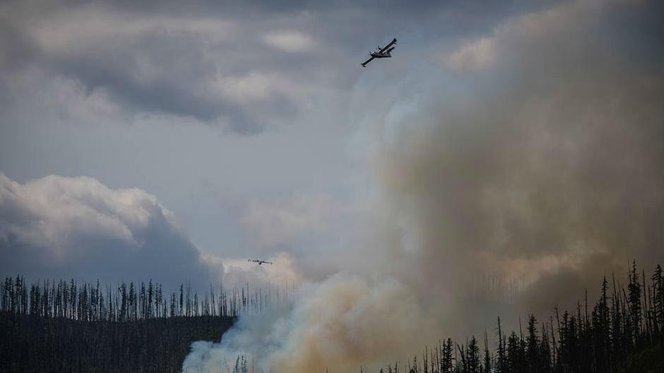 Howe Fire burning in Glacier National Park