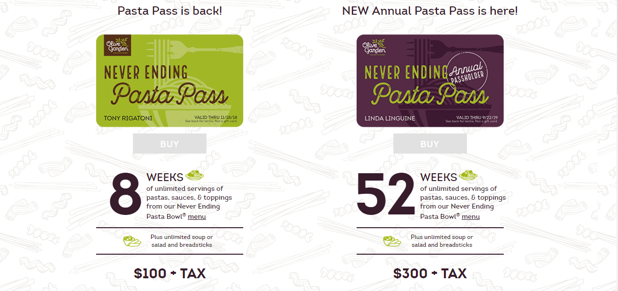 Lotsa Pasta Olive Garden Offers Year Of Never Ending Pasta Nbc Right Now Kndo Kndu Tri Cities