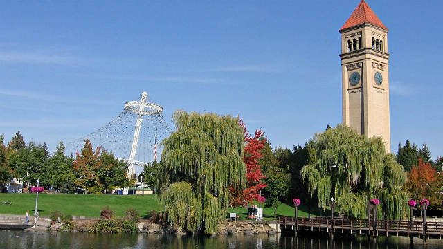 """Places such as Riverfront park in the downtown of Spokane, Wash. help make the city more """"normal""""."""