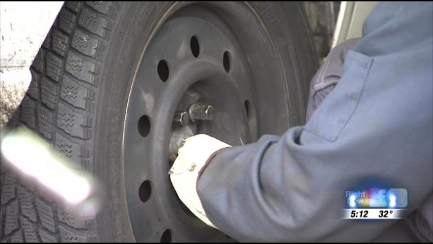Snow brings snow tire rush