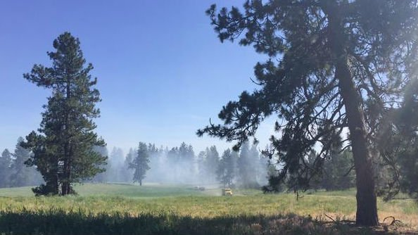 Fire burning in Medical Lake