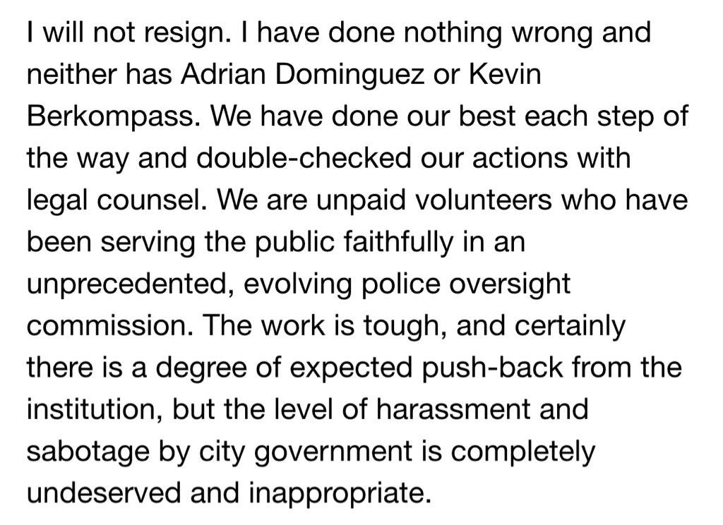 Rachel Dolezal's makes a statement on not resigning